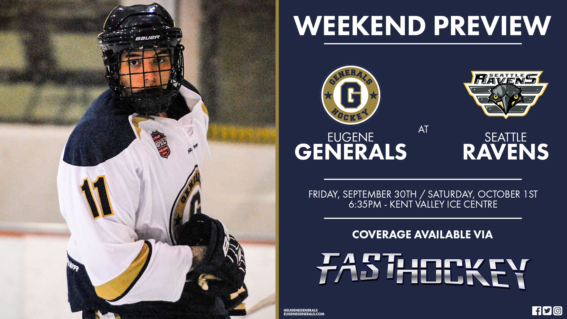 Weekend Preview - Generals And Ravens Set To Clash In Kent